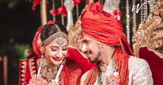 शादी के पवित्र बंधन में बंधे युजवेंद्र चहल और धनाश्री वर्मा, देखें तस्वीरें।
