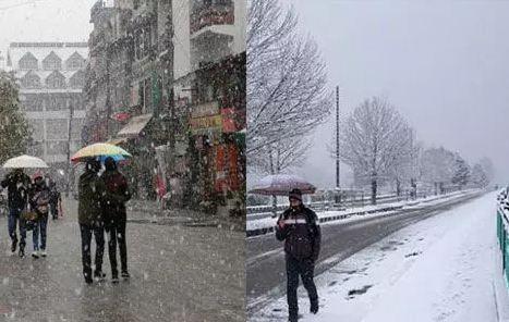उत्तराखंड में फिर बदला मौसम का मिजाज, कहीं बारिश तो कहीं बर्फ ने डाला डेरा,
