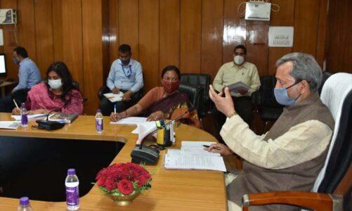 मुख्यमंत्री ने सोमवार को सचिवालय में खेल विभाग की समीक्षा की