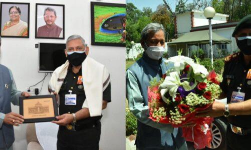 भारत के चीफ ऑफ डिफेंस स्टाफ जनरल बिपिन रावत ने की मुख्यमंत्री तीरथ रावत से मुलाकात