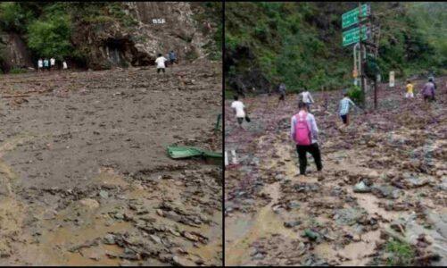गुरुवार भारी बारिश ने देहरादून के मालदेवता क्षेत्र के जोला-सेरकी ग्राम सभा में ढाया कहर