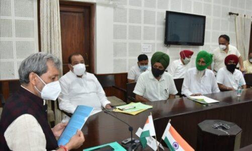 मुख्यमंत्री से बाजपुर के किसानों के प्रतिनिधिमण्डल ने अपनी समास्याओं से अवगत कराया