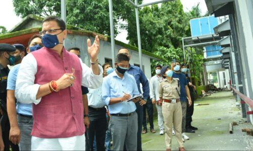 मुख्यमंत्री ने औचक निरीक्षण में निर्माण में मिली कमियों पर डीएम को दिये जांच के निर्देश