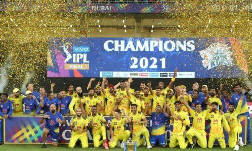चेन्नई सुपर किंग्स (CSK)  ने चौथी बार इंडियन प्रीमियर लीग (IPL) का खिताब जीता।